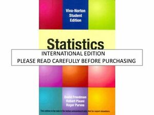 STATISTICS FREEDMAN 4TH EDITION PDF