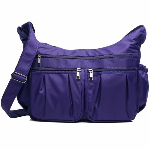 Multi Pocket Shoulder Bag Waterproof Nylon Travel Crossbody Bags for Women