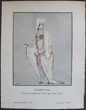FABIUS Pochoir Art Déco ORIGINAL N°1, pl. V - Janvier 1914 GAZETTE DU BON TON