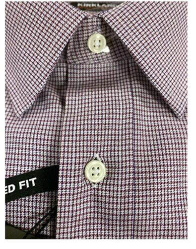 Kirkland Signature Men/'s Tailored Fit 100/% Cotton Non-Iron Dress Shirt