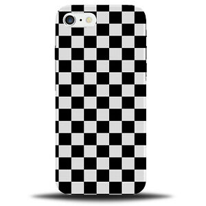 low priced f29cb 831e5 Details about Black and White Chequered Squares Phone Case Chess Pattern  Design Retro B723