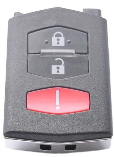 Klapp Schlüssel Gehäuse MAZDA 3 5 6 RX8 CX7 CX9 Fernbedienung PANIC Taste