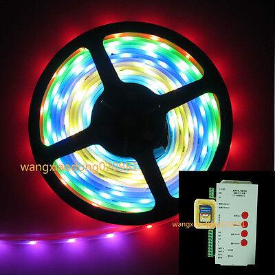 WS2811 5050 RGB LED Strip 5M 150leds Light Tube 12V & SD Card T1000S controller