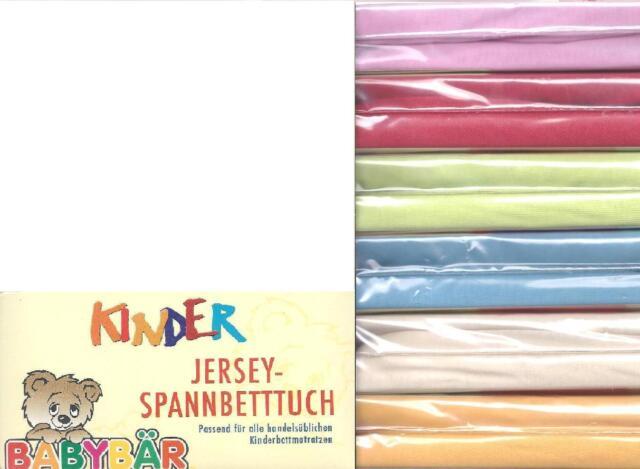 Babybär Jersey-Spannbettlaken Kinderbett 70x140, Steg 18 cm ! viele Farben - NEU