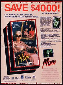 MOM-Original-1991-Trade-print-AD-horror-promo-JEANNE-BATES-STELLA-STEVENS