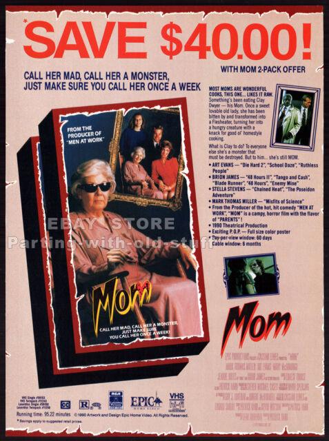 MOM__Original 1991 Trade print AD / horror promo__JEANNE BATES__STELLA STEVENS