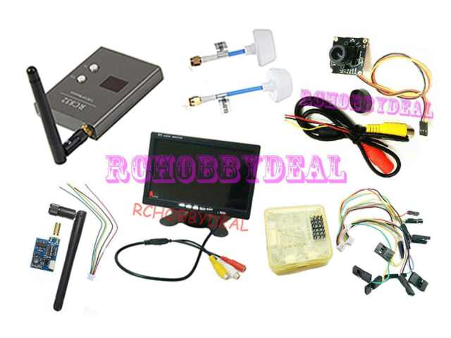 """FPV AV 7"""" HD LCD Monitor Mini CCD Camera CC3D board 5.8G TS5823 200mW RX RC832"""
