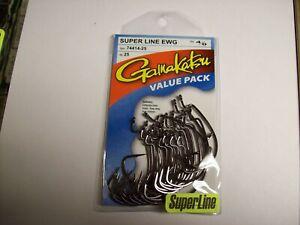4 packs gamakatsu super line 2//0 offset ewg shank worm tube senko hook 74412