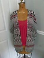 Three Pink Hearts Trixxi Pink Tank And Multi-color Sheer Cover Top - Medium-