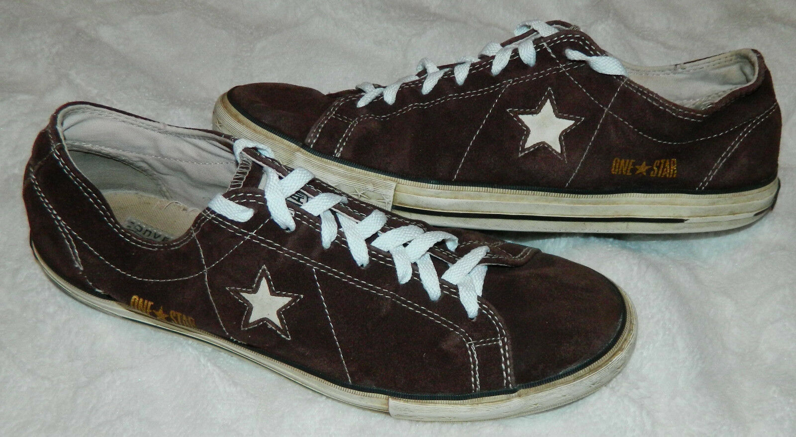 CONVERSE ONE STAR Mens 12 SNEAKERS shoes SUEDE Athletic Casual BROWN