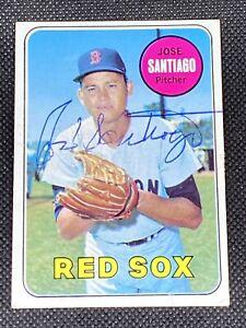 Jose Santiago Boston Red Sox Signed Auto Autographed 1969 Topps Card #21 ~ COA