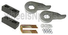"""Lift Kit Chevy Torsion Keys 2"""" Cast Steel Blocks 1999 - 06 6 Lug 4x4 Trucks"""