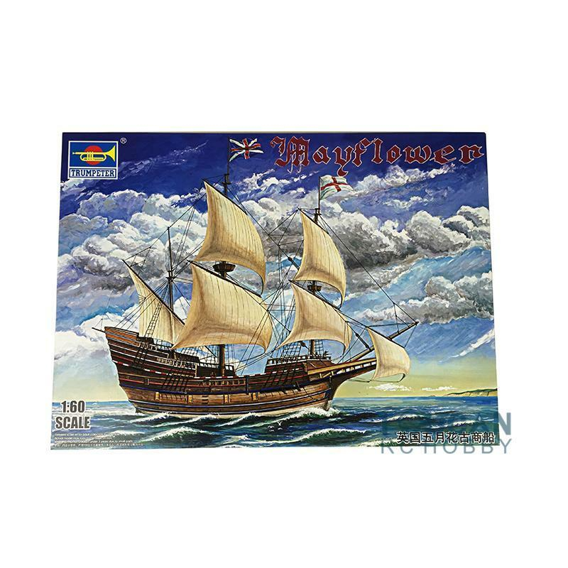 Mayflower Sailboat Boat Ship Plastic Static Model Kit Trumpeter 01201 1 60