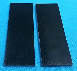 2-Black-Canvas-Micarta-1-4-034-Knife-Handle-Material-6-034-x-2-034-x-250-Scales