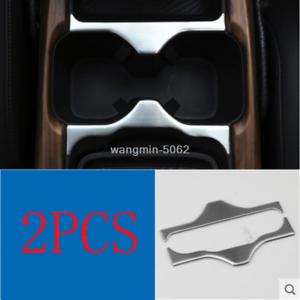 Black titanium Centre Cup Holder Stripe Cover Trim For Honda CRV CR-V 2017-2019