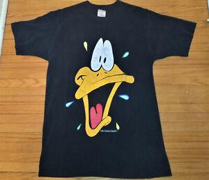 RARE-Vintage-1991-Looney-Tunes-Daffy-Duck-Warner-Bros-T-Shirt-L-Single-Stitch