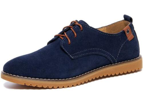 New Mens Leather Oxford Shoe Casual Dress Formal Genuine Suede Leather Lace Up