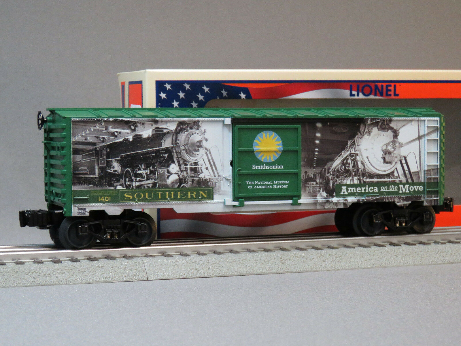 LIONEL SMITHSONIAN HISTORIC BOXCAR O GAUGE train Box Car MADE IN USA 6-84608 NEW
