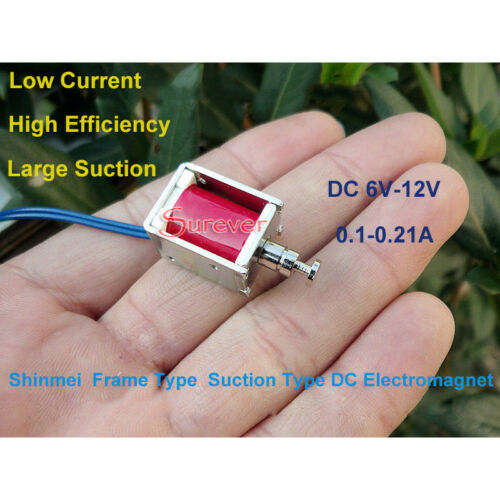 DC 6V-12V Push Pull Suction Type Rod Micro Solenoid Valve Mini DC Electromagnet
