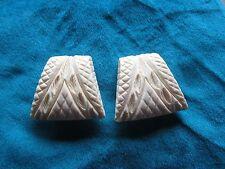 Vintage Bakelite (?) Clip earrings. Ivory color. . Gift Box.