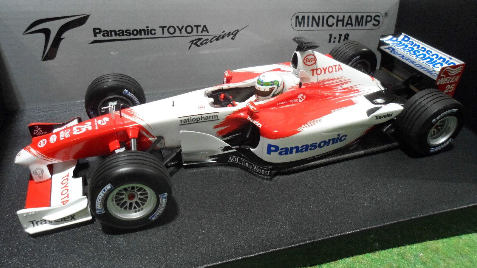 F1 TOYOTA PANASONIC TF102  25 McNish 1 18 MINICHAMPS 100020025 voiture miniatur