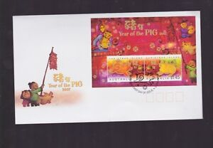 Australia-2007-Year-of-the-Pig-FDC-Christmas-Islands-WA-PMK-J-425