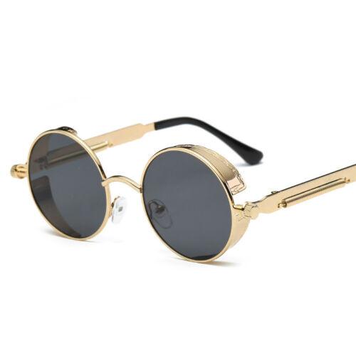 Vintage Steampunk Sunglasses Fashion Round Mirrored Retro Sunglasses U Fashion
