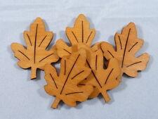 5 Eichenblätter Holz Streudeko Tischdeko Streuelemente Basteln Hellbraun