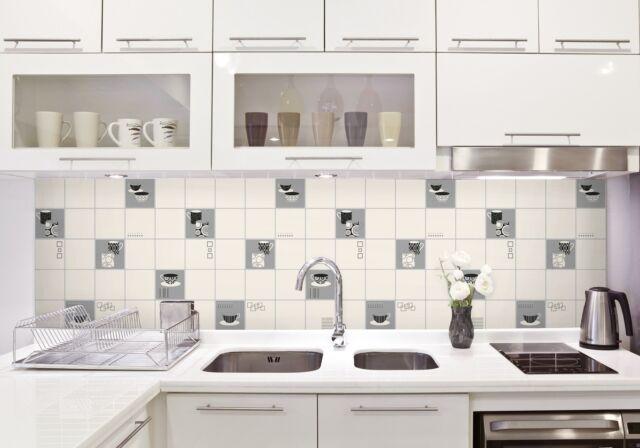 Bhf Fd13032 ceramica Retro - Carta da parati per cucina e bagno motivo Tazze