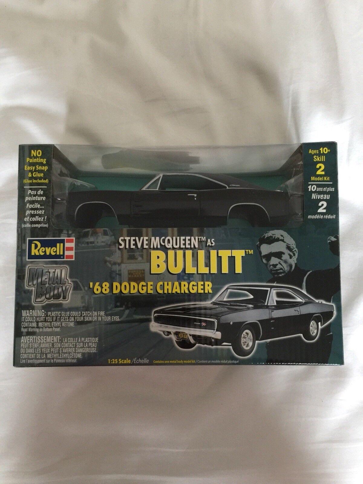 Revell  Steve Mcqueen Bullitt Dodge Charger Metal Kit  prix bas 40%