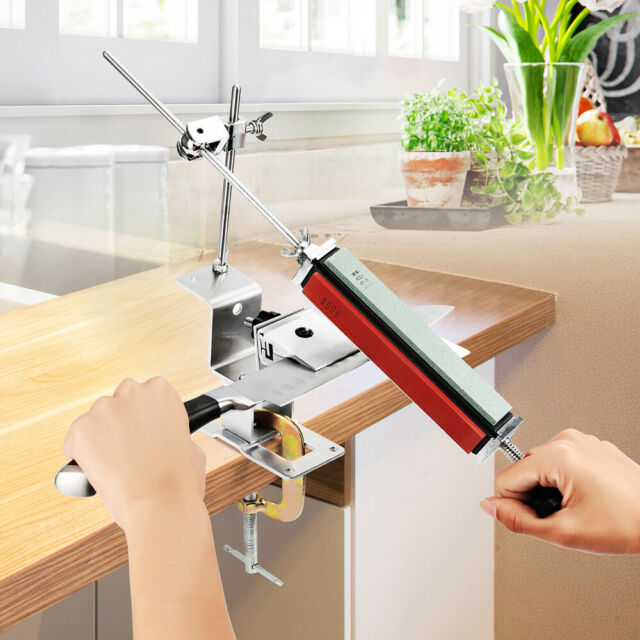 Professional Kitchen Sharpening System Fix-angle Knife Sharpener With Stones AU