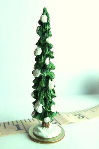 Victorian-Village-Christmas-Grandeur-Noel-1995-Snowy-Evergreen-Tree-Miniature
