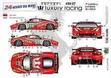 "[FFSMC Productions] Decals 1/32 Ferrari F-458 GT ""Luxury Racing"" (LM 2011)"