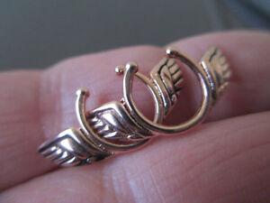 Tribal Design FULL PAIR Fake Clip On Non Piercing Nipple Shields Ring