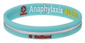 Designer-Anaphylaxis-Turquoise-Stripe-Medical-Alert-Bracelet-by-Mediband