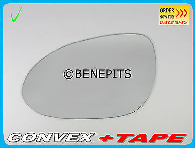 TAPE #329 Left Side Convex Stick On Wing Mirror Glass For HYUNDAI i30 2007-2011