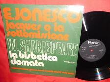 VALERIA MORICONI Jonesco Shakespeare La bisbetica domata OST LP 1975 ITALY MINT-