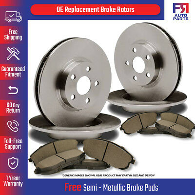 For 1994-1995 Nissan 240SX Front Rear eLine Slotted Brake Rotors