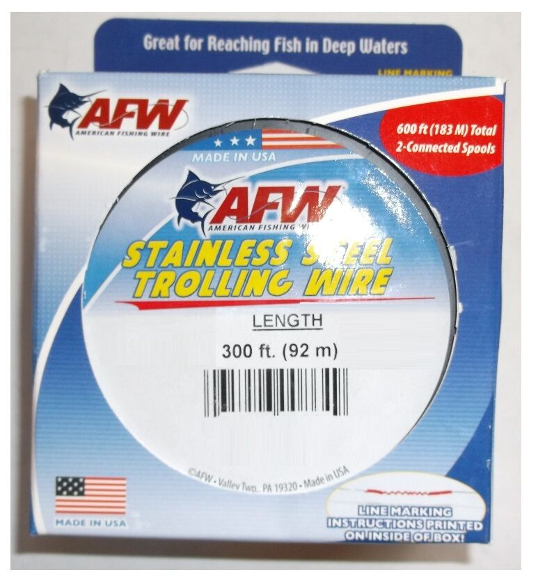 AFW TROLLING WIRE  Stainless Steel 60lb 600Ft NEW    G060-4 2 FREE USA SHIPPING  online at best price