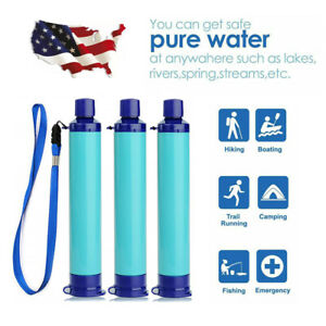 Personal Portable Water Filter Straw Outdoor Drinking Emergency Survival Tool TZ