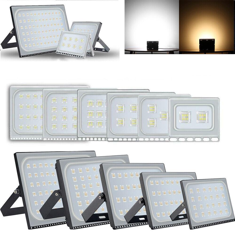 10W 20W 50W 100W 500W LED Fluter Flutlicht Strahler Außen Scheinwerfer UltraDünn