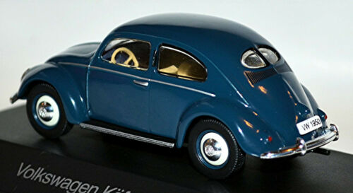 VW Käfer Bretzelfenster Volkswagen Beetle 1950 blau blue 1:43
