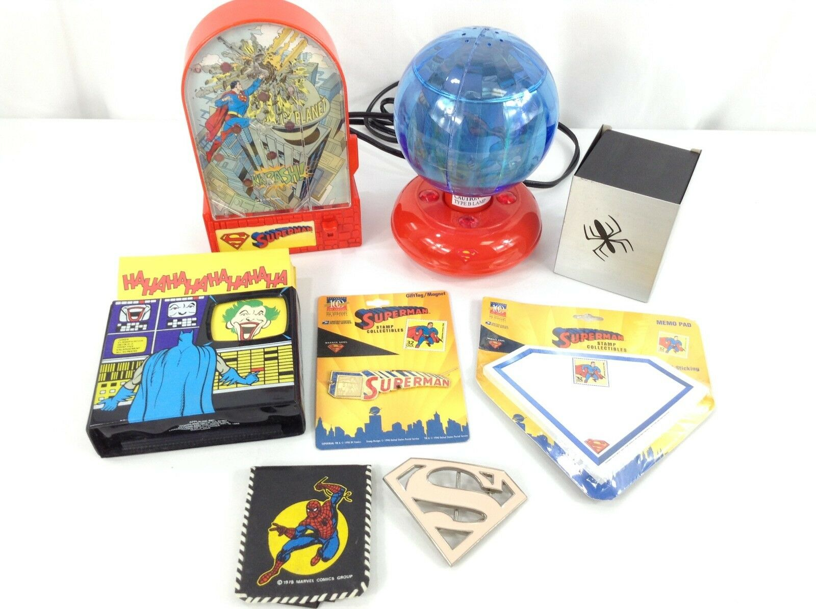 Super Hero Lot - Superman, Batman, Spiderman. Game, Light, Wallet, and more