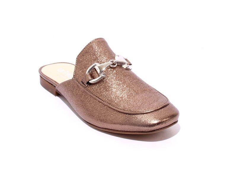 Les Trois Garcons 55060b Pewter / Silver Buckle  Leder US Sandals Mules 36 / US Leder 6 377b48