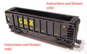 Image is loading Instructions-Stickers-4-LEGO-CSX-Hopper-10133-10219-
