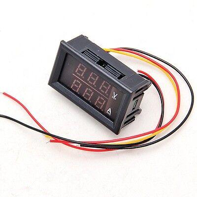 New DC 4.5-30V 0-50A Dual LED Digital Volt meter Ammeter Voltage AMP Power
