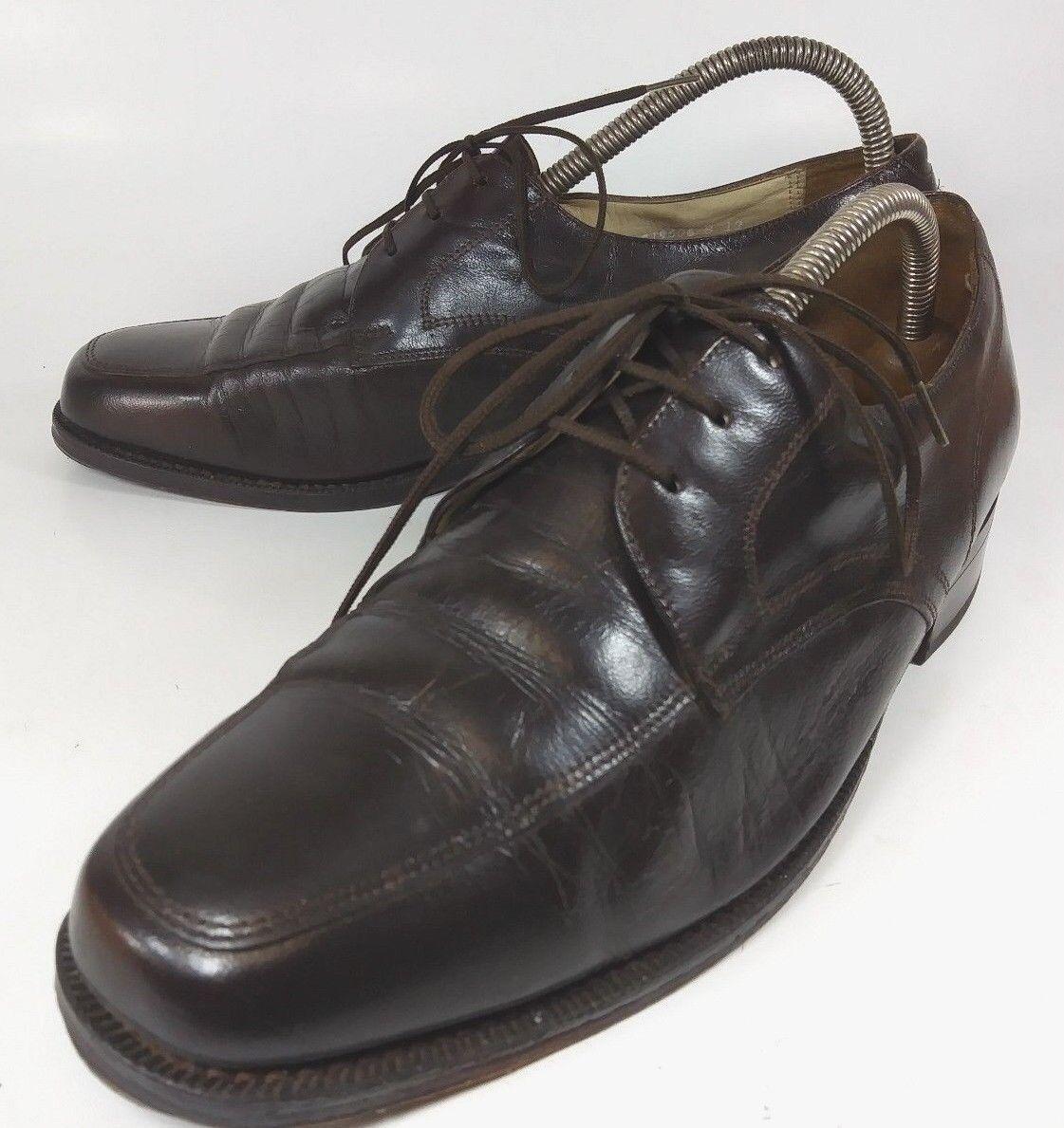 The Florsheim shoes Mens Oxfords US 8 E Brown Leather Lace Dress Moc Toe 5645