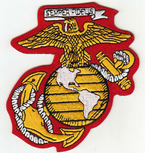 Sew-On Motif Applique Semper Fi US Marine Corp Embroidered Patch Iron-On