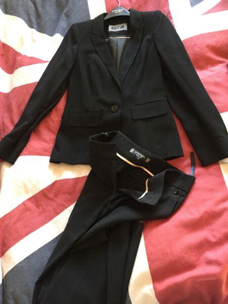 100% Vero Giacca Nera Principles E Pantaloni Taglia 8 Costo Moderato