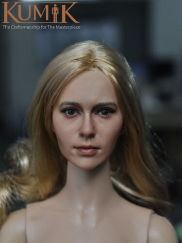 "KUMIK KM15-31 1//6 Scale Beauty Headplay Female Head Sculpt for 12/"" Figure"